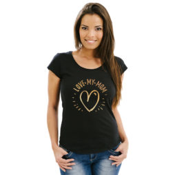 Dames T-shirt love my mom - T-code T-shirts cadeaus
